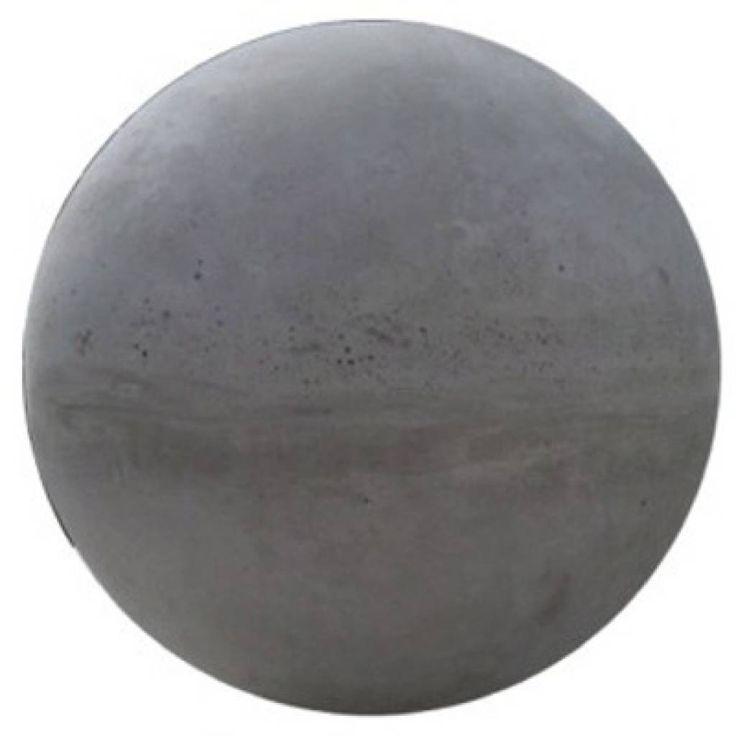 Betonnen bol, grijs beton Ø 14cm. De bol kan worden voorzien van een een schroefhuls. De betonnen bollen zijn sierelementen.
