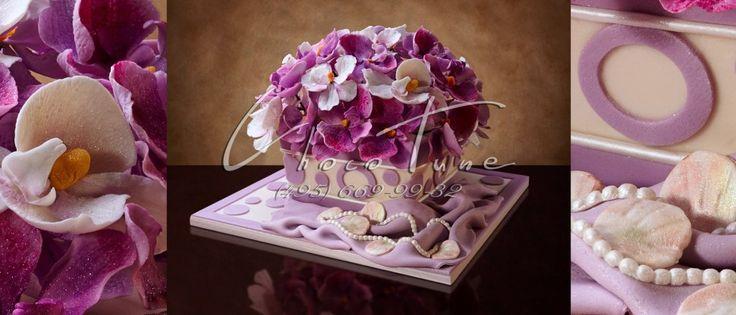 Торт Сиреневые цветы