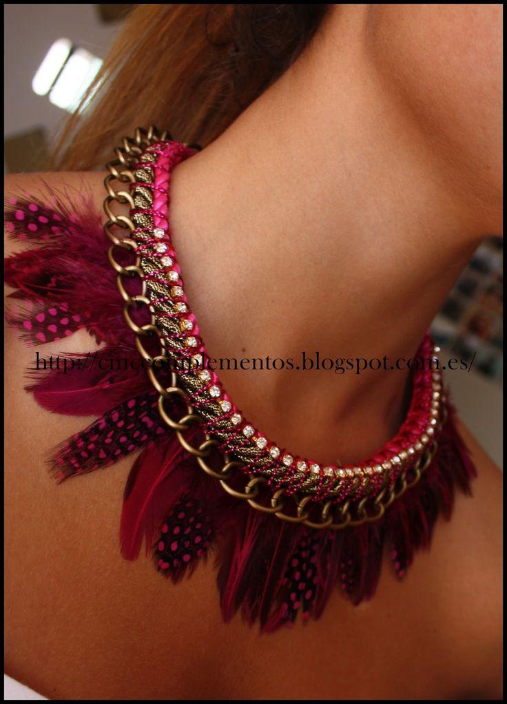 CMC Complementos: Collar de Plumas