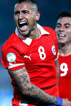 Arturo Vidal.  Chile National Team