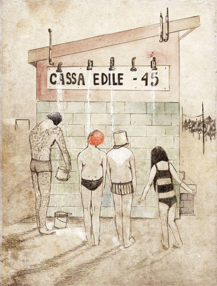 Illustration for magazine ILLUSTRATI, summer 2013 by Eva Escoms Estarlich. Logos Edizioni