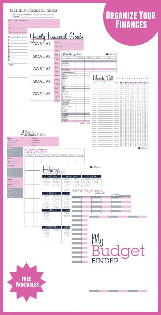 My Secret for Saving Money - Budget Binder Printables