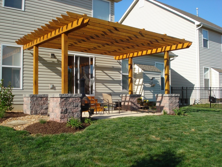 Backyard patio, pergola & landscaping - St Peters, MO