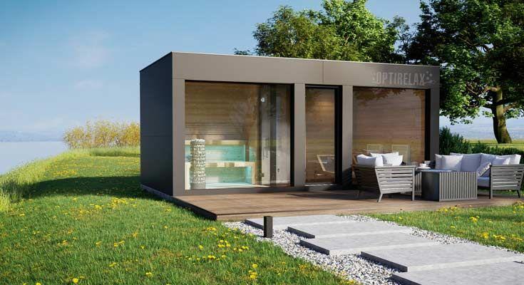 Sauna Dusche Infrarot Optirelax Optiwell 3m Optirelax In 2021 Whirlpool Hinterhof Kleiner Pool Ideen Saunahaus