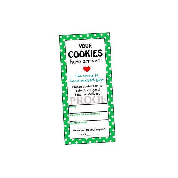 YOUR COOKIES Have ARRIVED for Cookie Delivery (Instant Download) You Print