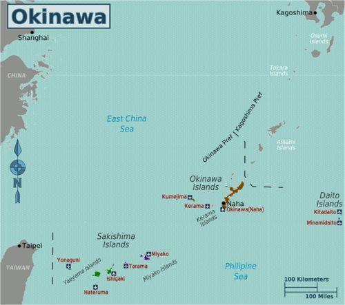 Map Of America And Japan.Okinawa Japan Map Of Okinawa Prefecture Edit Oki Edit Japan