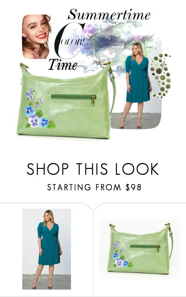 """Lime Time"" by beautifulbagsetc ❤ liked on Polyvore featuring Naomi Campbell, Kiyonna and plus size dresses"