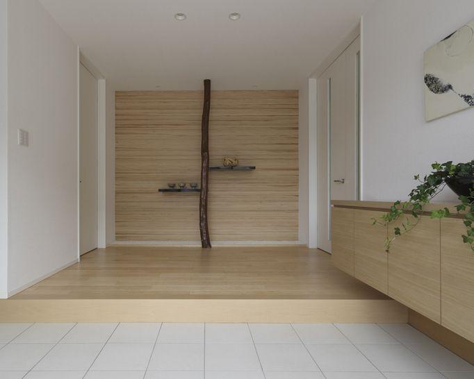 玄関 和モダン ニッチ|注文住宅のアキュラホーム