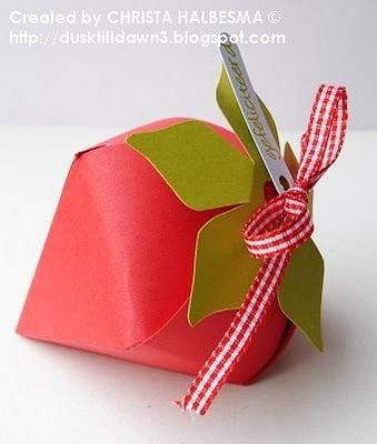 Aardbei van papier - Paper strawberry #fruit