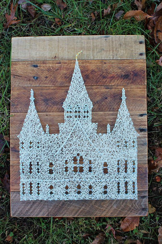 Mormon Baptism-Provo City-LDS Wall Art-String Art-Utah Mormon Temple ...