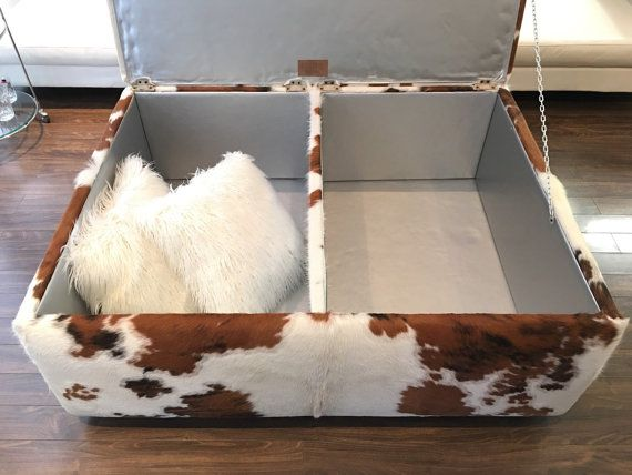 Brazilian Cowhide Ottoman-Coffee Table With by BeSofia on Etsy