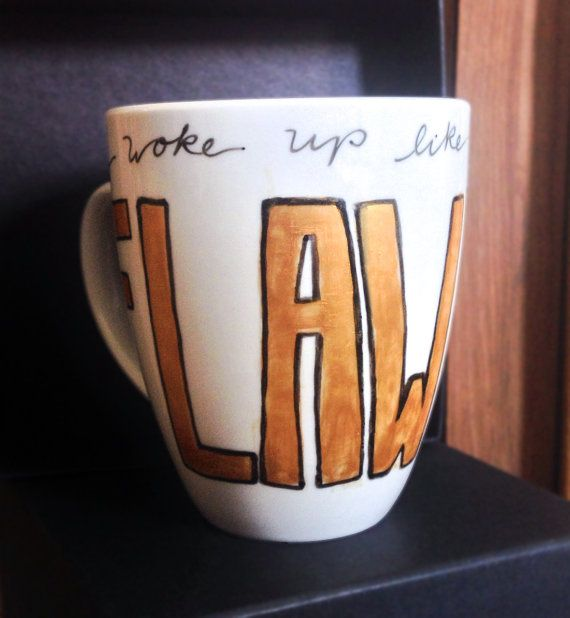 Wake Up Flawless  Beyonce Lyric Handpainted by LuckySkyeDesigns, $20.00