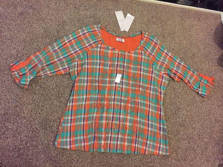 M&S PER UNA WeekEnd UK12 EU40 BNWT Ladies Shirt/ Top Orange mix