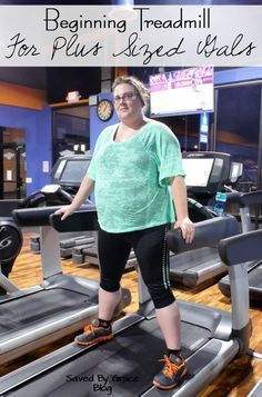 Beginning Treadmill for Plus Size Gals including tips on what to do, how to start working out on a treadmill and plus size workout clothing.