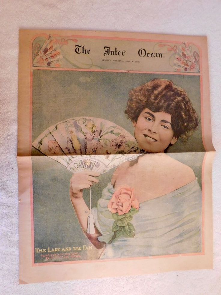 The Inter Ocean Newspaper, Chicago,  August 9, 1903 - FREE SHIPPING