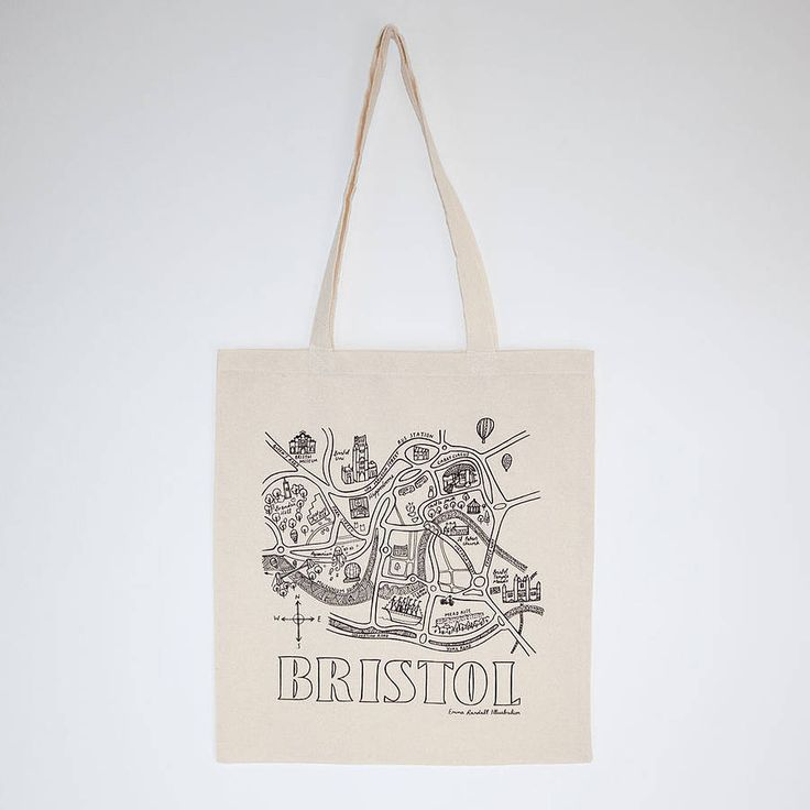 bristol map tote bag by emma randall illustration | notonthehighstreet.com