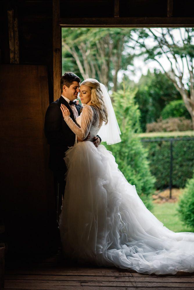 Laurie in her custom made Ella Moda gown #ellamoda #weddinggown #bride