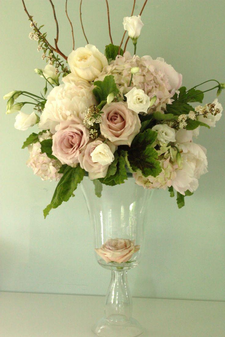 25 best ideas about blush wedding centerpieces on for Best wedding flower arrangements