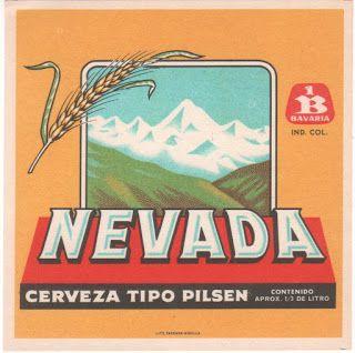 1970 Etiquetas de Cervezas Colombianas: NEVADA