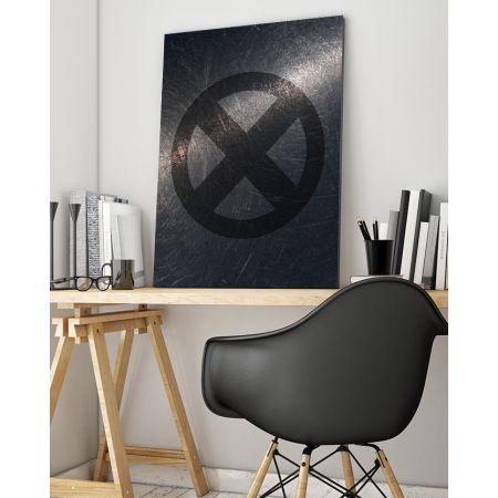X-Men Symbol Canvas Art - Marvel Canvas Art