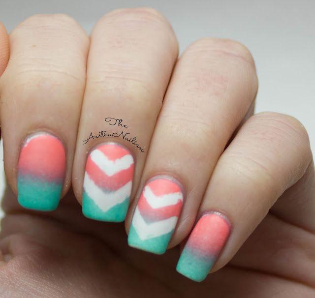 Pastel Chevron Gradient Nail Art Design from The AustraNailian