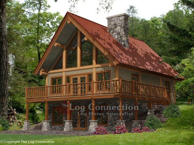 Alpine ridge log home minocqua 1292 sq ft homes for 2000 sq ft log cabin cost