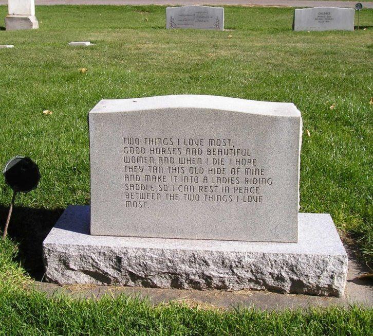 LOVE this gravestone quote!