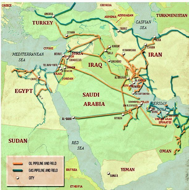 18 best Maps of Oil Pipelines in the Middle East images on