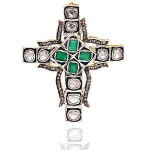 14kt Gold 1.96ct Rose Cut Diamond Cross Pendant Vintage Jewelry Socheec. $840.00. 14kt Solid Gold Pendant. 1.96ct Rose Cut Diamond Cross Pendant. Vintage Cross Pendant