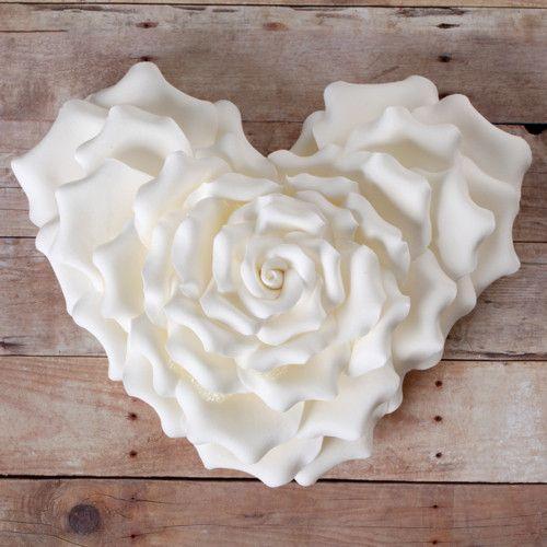Heart Shape Rose - White
