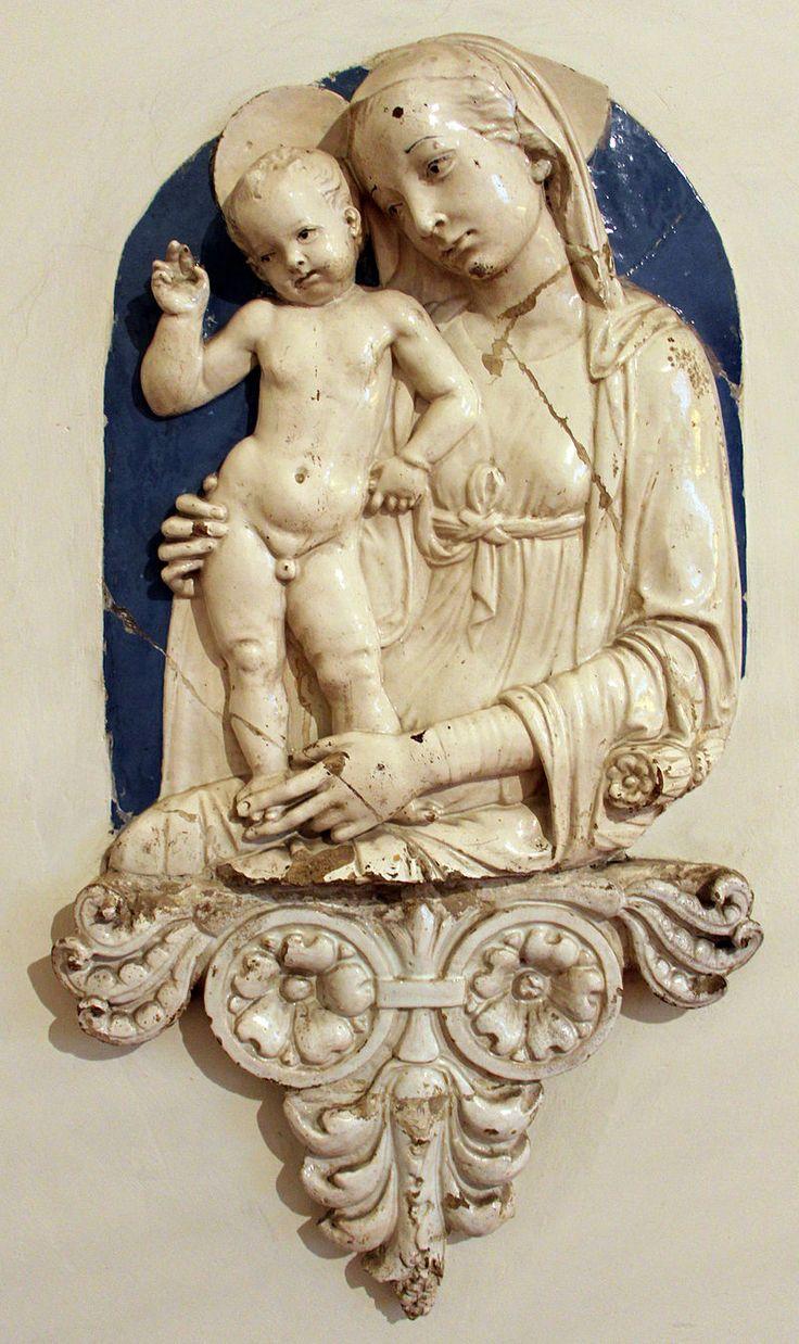 Andrea della Robbia (bottega) - Madonna col Bambino benedicente - Casa Buonarroti, Firenze