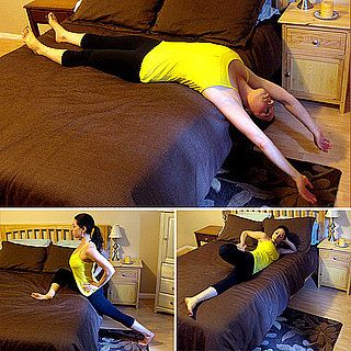 Stretches to Do BEFORE getting in Bed to relieve stress, help you sleep better & better flexibility.