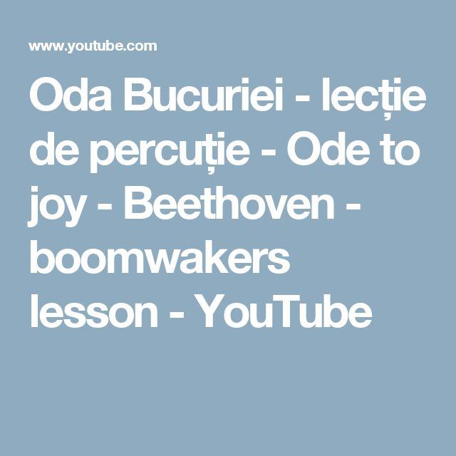 Oda Bucuriei - lecție de percuție -   Ode to joy - Beethoven - boomwakers lesson - YouTube