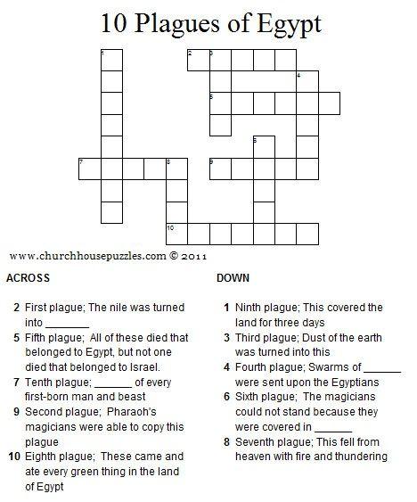 Jerusalem House Puzzle: Cw Ten Plagues Of Egypt Crossword Puzzle.jpg 468×563