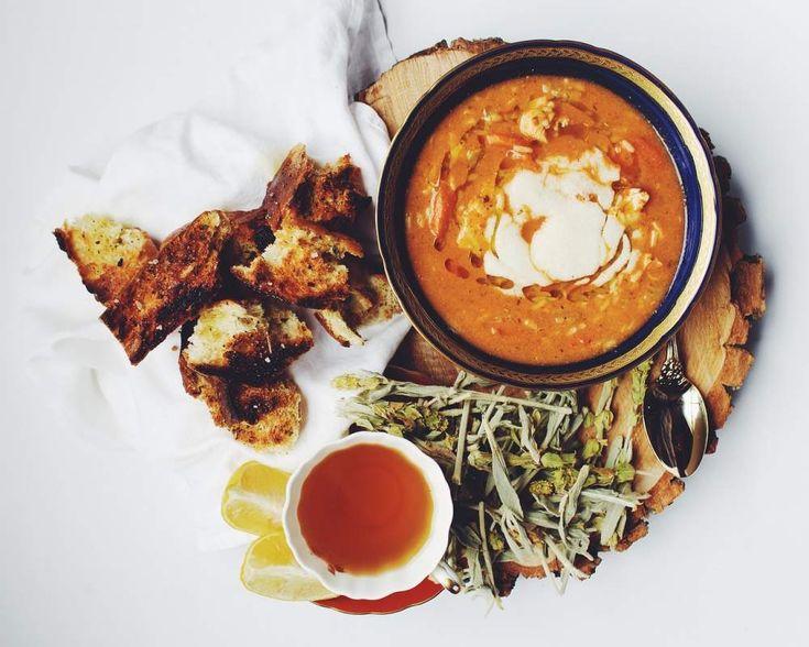 Zuppa di amaranto e lenticchie rosse