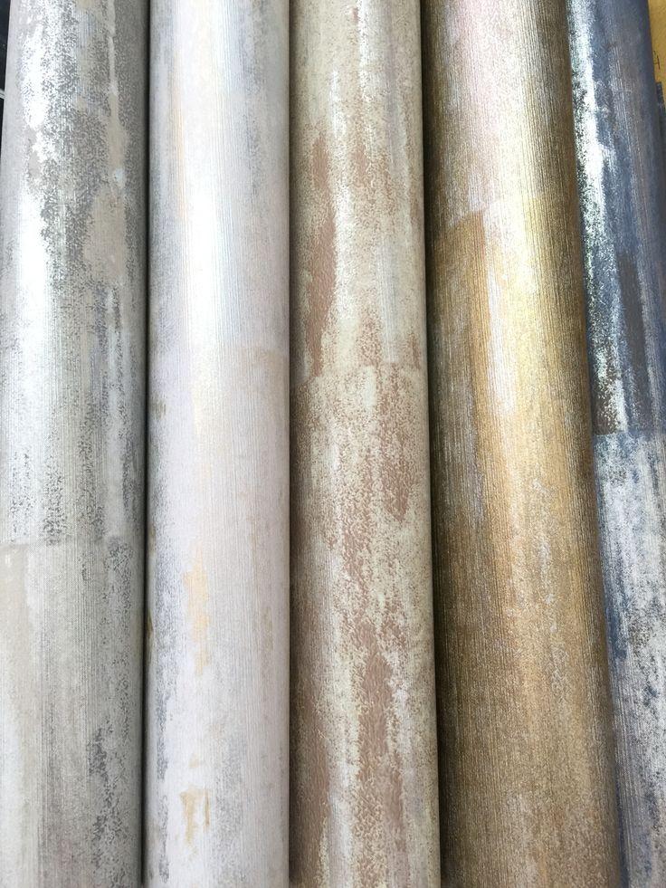 Papel de parede Metal Stone da coleção Boutique Naru
