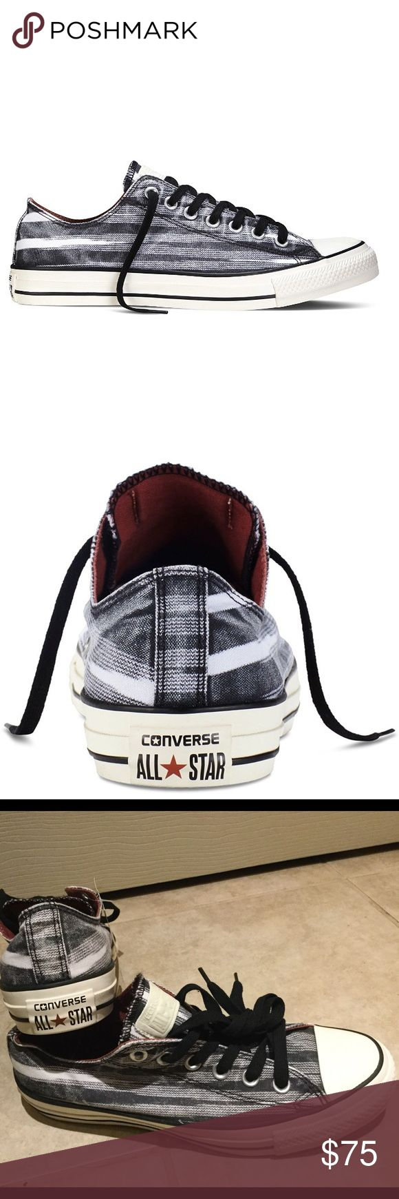 NIB Converse Missoni Chuck Taylor Ox Sneakers Awesome Converse low top lace-ups in Auburn/Black/Egret.  Can be unisex.  Women's size 7.5/Men's size 5.5. No box top. Open to offers! Converse Shoes Sneakers