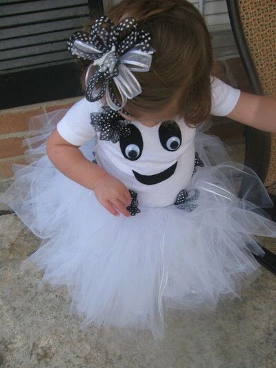 Toddler Girl Ghost Costume---SO cute!
