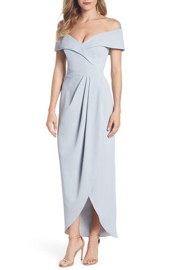 9b62138e Xscape Off the Shoulder Tulip Gown (Regular & Petite)   Most Stylish ...
