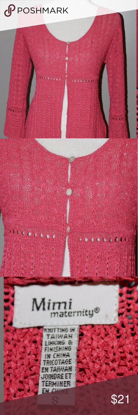 Mimi Maternity Cardigan Beautiful Crocheted Cardigan very boho and pretty can be worn as a regular non maternity cardigan as well Mimi Maternity Sweaters Cardigans