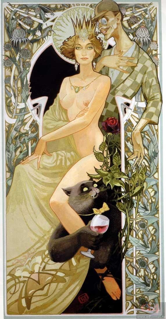 Bulgakov's Master and Margarita. Love this print.