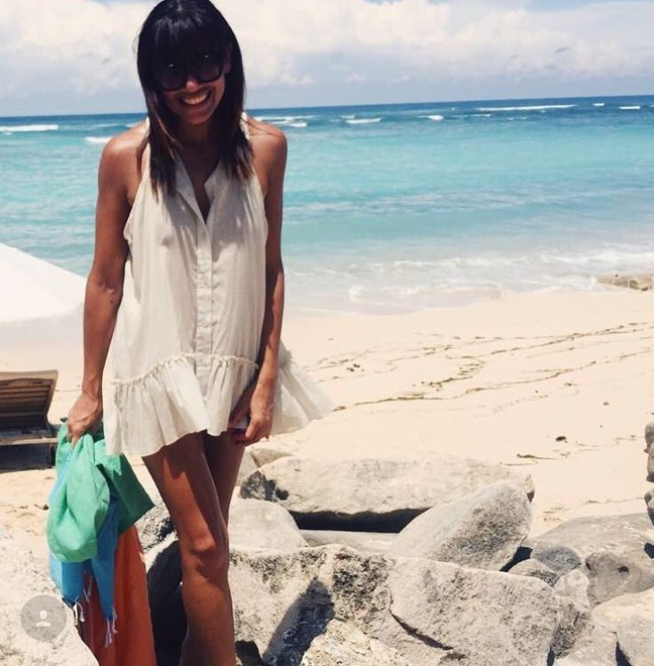 Cosmo Fashion Director Nicole Adolphe looking gorgeous in Bali with her Knotty Colourblock....available online now at www.knotty.com.au