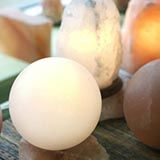 White Himalayan Salt Lamps