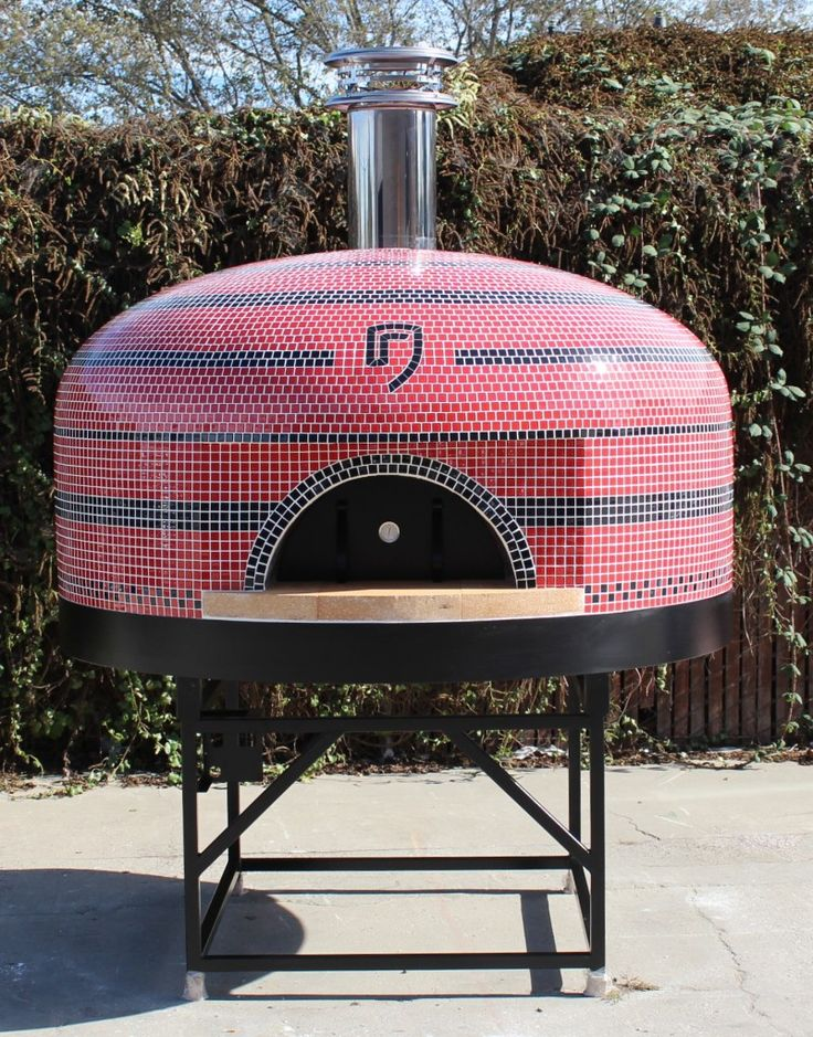 Custom Tile Work On A Fornobravo Napoli Oven Wood Fired