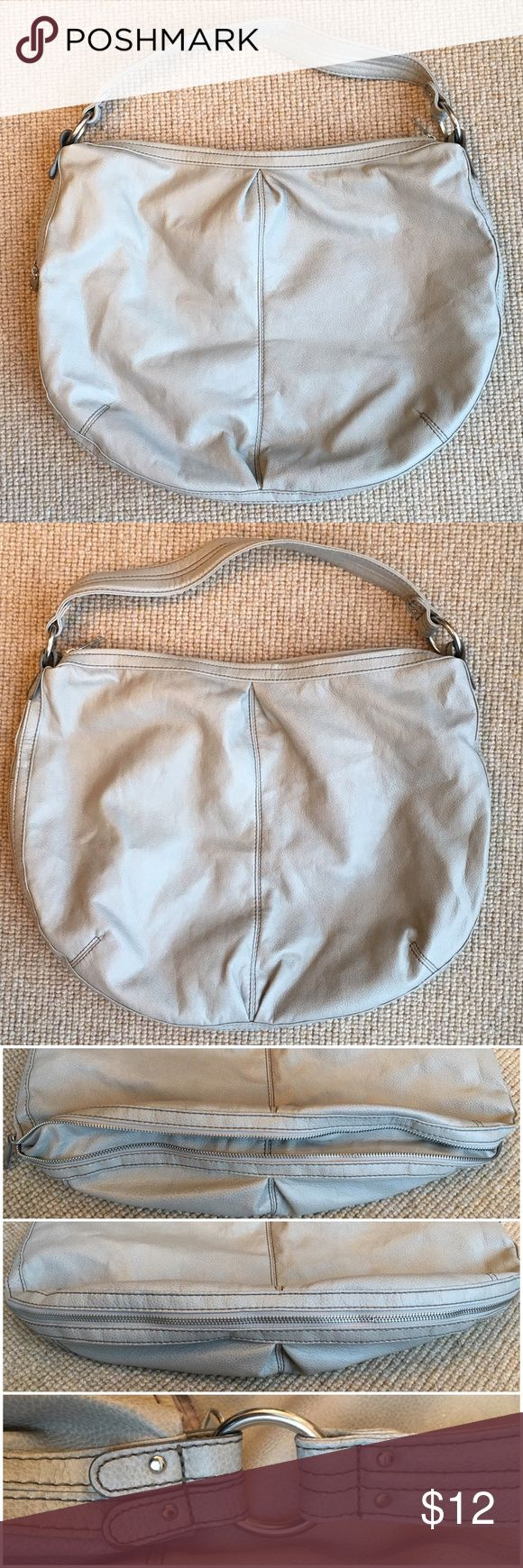 """Large Gray H&M Purse - Faux Leather Large gray purse with silver hardware from H&M, made out of imitation leather. In like-new condition with no flaws. The bottom can be zipped closed or open, to expand the depth of the purse. Approximate measurements: 14.5"""" top to bottom, 18.75"""" across the middle, 10"""" strap drop, and 3.25"""" depth. From a smoke free and let free home. Feel free to ask any questions. H&M Bags Shoulder Bags"""