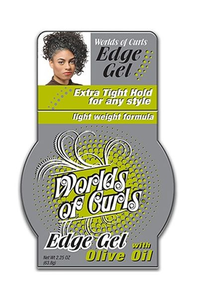 AOneBeauty.com - Worlds Of Curls Olive Oil Edge Gel (2.25oz), $5.99 (http://www.aonebeauty.com/worlds-of-curls-olive-oil-edge-gel-2-25oz/)