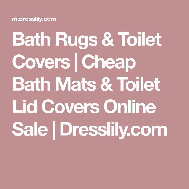 Bath Rugs & Toilet Covers | Cheap Bath Mats & Toilet Lid Covers Online Sale | Dresslily.com