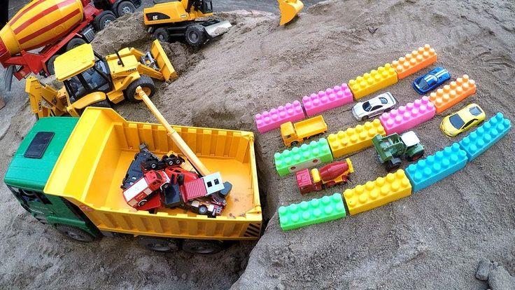Car toys video, Construction truck for kids, Dump truck for children, PO...