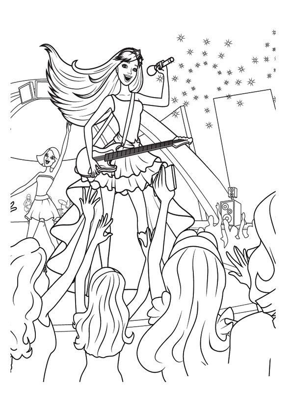 Barbie Keira Coloring Pages Coloring Pages