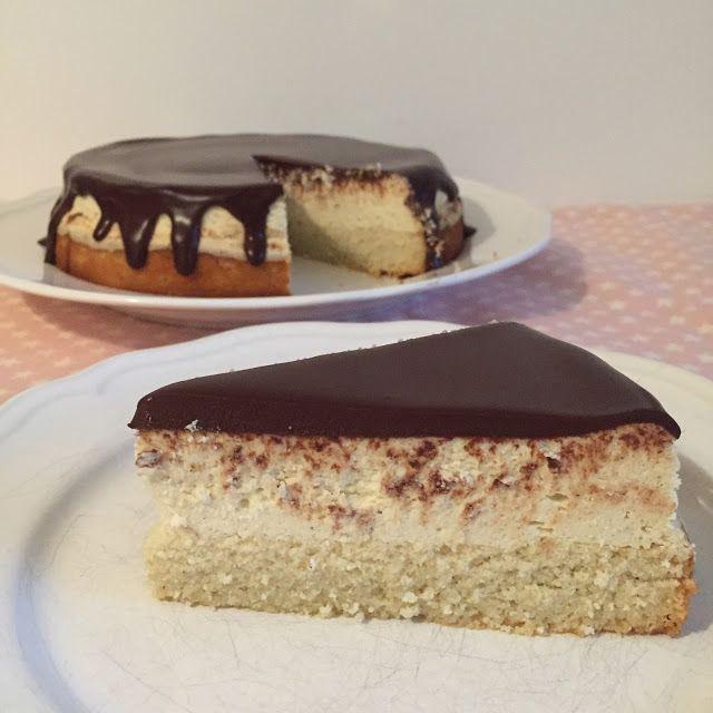 olles *Himmelsglitzerdings*: Käsekuchen mit Schokoladenguss - extra saftig und cremig * Low-Carb / LCHF